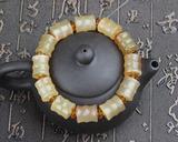 天然西藏羊角带血竹节款单圈佛珠