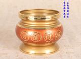 台湾 佛堂用品直口招财炉 法器 家用供具铜香炉