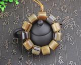 西藏天然耗牛角单圈桶珠手串佛珠手链正宗牛角珠径约20mm