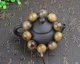 天然西藏耗牛角名族风单圈佛珠手链12-15mm 骨质手链单圈羊角念珠