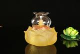 琉璃 福莲油灯 古法琉璃 琉璃油灯 液体酥油 防风油灯