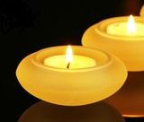 琉璃碟形烛台 佛教用品 古法琉璃(三件起拍)