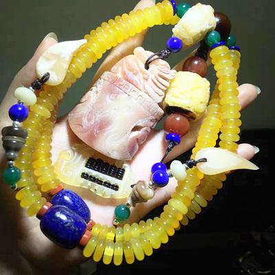 天然黄金甲 山龟壳108颗手链DIY搭配 配古龙骆驼骨 羊角算盘
