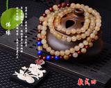 天然野生羊角西藏名族风项链108颗羊角佛珠念珠