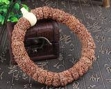 尼泊尔天然扇面式五瓣金刚菩提子佛珠手串原色手持珠