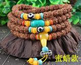 尼泊尔天然藏式切片小金刚108颗佛珠手链DIY金刚菩提子 配黄玉髓、玛瑙多款