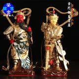 台湾盛凡 鎏金铜像 佛像 韦陀护法 伽蓝护法(5公斤)